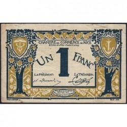 Nice - Pirot 91-05b - 1 franc - Série 19 - 25/04/1917 - Etat : TB