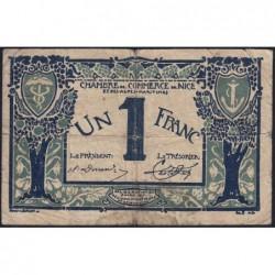 Nice - Pirot 91-07 - 1 franc - Série 46 - 25/04/1917 - Emission 1920 - Etat : B+