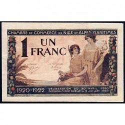 Nice - Pirot 91-11 - 1 franc - Série 85 - 30/04/1920 - Etat : pr.NEUF