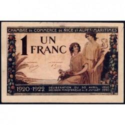 Nice - Pirot 91-11 - 1 franc - Série 88 - 30/04/1920 - Etat : TTB+