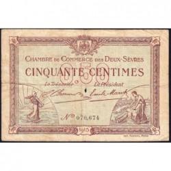 Niort - Deux-Sèvres - Pirot 93-1 - 50 centimes - 30/09/1915 - Etat : B+