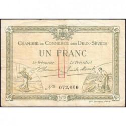 Niort - Deux-Sèvres - Pirot 93-3 - 1 franc - 30/09/1915 - Etat : TB-