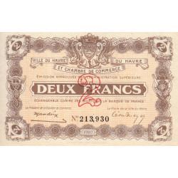 Le Havre - Pirot 68-24 - 2 francs - 1920 - Etat : SPL+