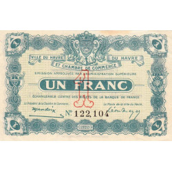 Le Havre - Pirot 68-28 - 1 franc - Etat : SUP+