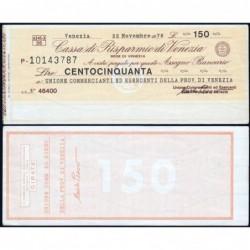 Italie - Miniassegni - Cassa di Risparmio di Venezia - 150 lire - 22/11/1976 - Etat : SPL