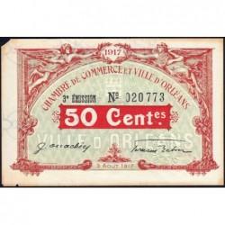 Orléans - Loiret - Pirot 95-16 - 50 centimes - 1917 - Etat : TB