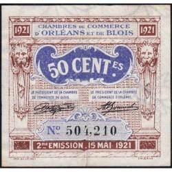 Orléans et Blois - Pirot 96-5 - 50 centimes - 15/05/1921 - 2me émission - Etat : TTB+