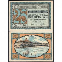 Pologne - Notgeld - Kolberg (Kolobrzeg) - 25 pfennig - 01/09/1921 - Etat : NEUF