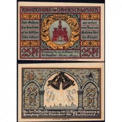 Pologne - Notgeld - Kreuzburg (Kluczbork) - 25 pfennig - 18/10/1921 - Etat : NEUF