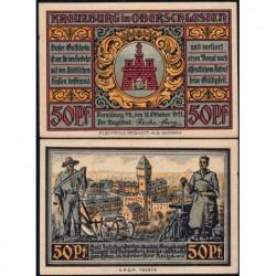 Pologne - Notgeld - Kreuzburg (Kluczbork) - 50 pfennig - 18/10/1921 - Etat : SPL