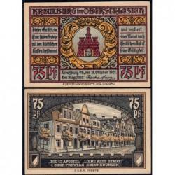 Pologne - Notgeld - Kreuzburg (Kluczbork) - 75 pfennig - 18/10/1921 - Etat : NEUF