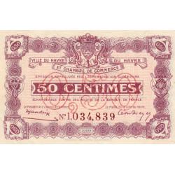 Le Havre - Pirot 68-32 - 50 centimes - 18/08/1920 - Etat : SUP+