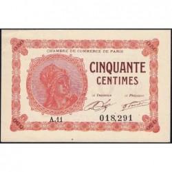 Paris - Pirot 97-10 - 50 centimes - Série A.11 - 10/03/1920 - Etat : SUP
