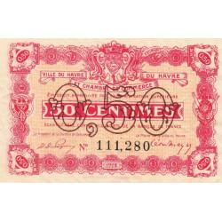Le Havre - Pirot 68-33 - 50 centimes - 1922 - Etat : SUP