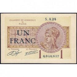 Paris - Pirot 97-23 - 1 franc - Série A24 - 10/03/1920 - Etat : SUP+