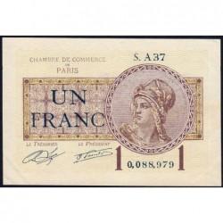 Paris - Pirot 97-23 - 1 franc - Série A37 - 10/03/1920 - Etat : SUP