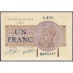 Paris - Pirot 97-23 - 1 franc - Série B73 - 10/03/1920 - Etat : TTB