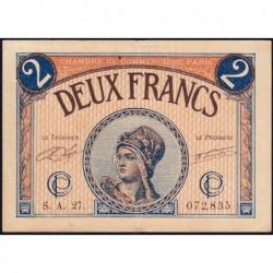 Paris - Pirot 97-28b - 2 francs - Série A.27.- 10/03/1920 - Etat : TTB