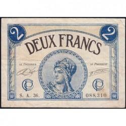 Paris - Pirot 97-28b - 2 francs - Série A.36.- 10/03/1920 - Etat : TB
