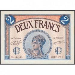 Paris - Pirot 97-28b - 2 francs - Série A.55.- 10/03/1920 - Etat : SUP