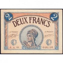 Paris - Pirot 97-28b - 2 francs - Série A.61.- 10/03/1920 - Etat : TB+