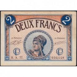 Paris - Pirot 97-28b - 2 francs - Série A.77.- 10/03/1920 - Etat : TTB+