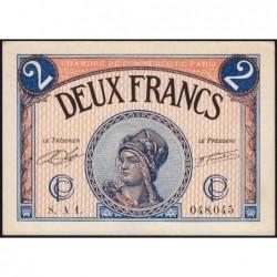 Paris - Pirot 97-28a - 2 francs - Série A 1. - 10/03/1920 - Etat : SPL