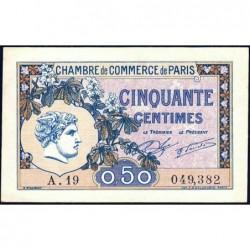 Paris - Pirot 97-31 - 50 centimes - Série A.19 - 10/03/1920 - Etat : SUP+