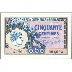 Paris - Pirot 97-31 - 50 centimes - Série A.20 - 10/03/1920 - Etat : SPL