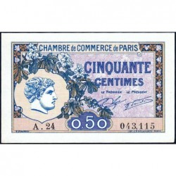 Paris - Pirot 97-31 - 50 centimes - Série A.24 - 10/03/1920 - Etat : SPL+
