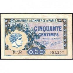 Paris - Pirot 97-31 - 50 centimes - Série B.30 - 10/03/1920 - Etat : TB