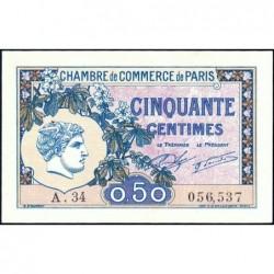 Paris - Pirot 97-31 - 50 centimes - Série A.30 - 10/03/1920 - Etat : pr.NEUF