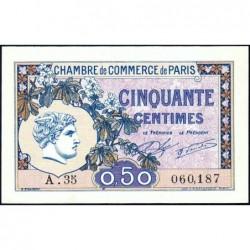Paris - Pirot 97-31 - 50 centimes - Série A.35 - 10/03/1920 - Etat : SPL