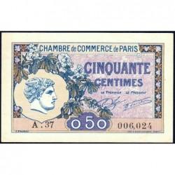Paris - Pirot 97-31 - 50 centimes - Série A.37 - 10/03/1920 - Etat : SUP+