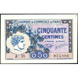 Paris - Pirot 97-31 - 50 centimes - Série A.35 - 10/03/1920 - Etat : SUP+