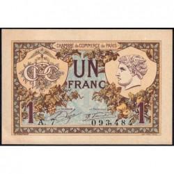 Paris - Pirot 97-36 - 1 franc - Série A.7 - 10/03/1920 - Etat : SPL