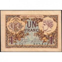 Paris - Pirot 97-36 - 1 franc - Série A.11- 10/03/1920 - Etat : TTB+