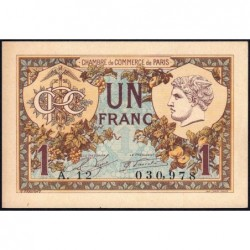 Paris - Pirot 97-36 - 1 franc - Série A.12 - 10/03/1920 - Etat : SPL