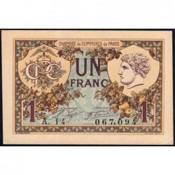 Paris - Pirot 97-36 - 1 franc - Série A.14 - 10/03/1920 - Etat : SUP