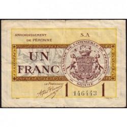 Péronne - Pirot 99-2b - 1 franc - Série S.A - 27/07/1920 - Etat : TB+