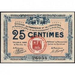 17 - Rochefort-sur-Mer - Syndicat du Commerce et de l'Industrie - 25 centimes - Sans série - Etat : SUP+