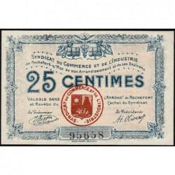 17 - Rochefort-sur-Mer - Syndicat du Commerce et de l'Industrie - 25 centimes - Sans série - Etat : SPL