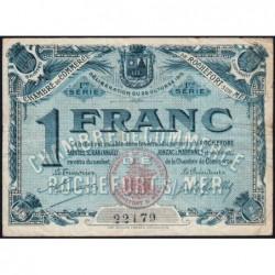 Rochefort-sur-Mer - Pirot 107-4 - 1 franc - 1ère Série - 28/10/1915 - Etat : TB+