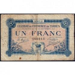 Tarbes - Pirot 120-14 - 1 franc - Série III - 23/09/1917 - Etat : B