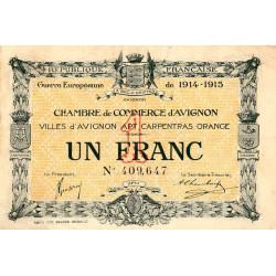 Avignon - Pirot 18-5 variété - 1 franc - 11/08/1915 - Etat : TTB
