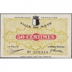 Metz - Pirot 131-1b - 50 centimes - 27/12/1918 - Etat : SUP