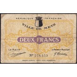 Metz - Pirot 131-6 - 2 francs - 27/12/1918 - Etat : B+