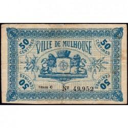 Mulhouse - Pirot 132-1 - 50 centimes - Série C - 27/12/1918 - Etat : TB