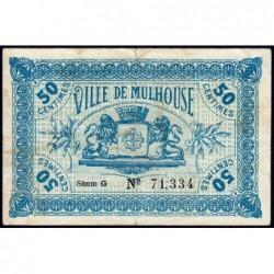 Mulhouse - Pirot 132-1 - 50 centimes - Série G - 27/12/1918 - Etat : TTB