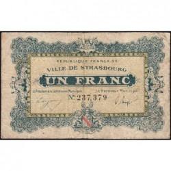 Strasbourg - Pirot 133-4 - 1 franc - 11/11/1918 - Etat : B+